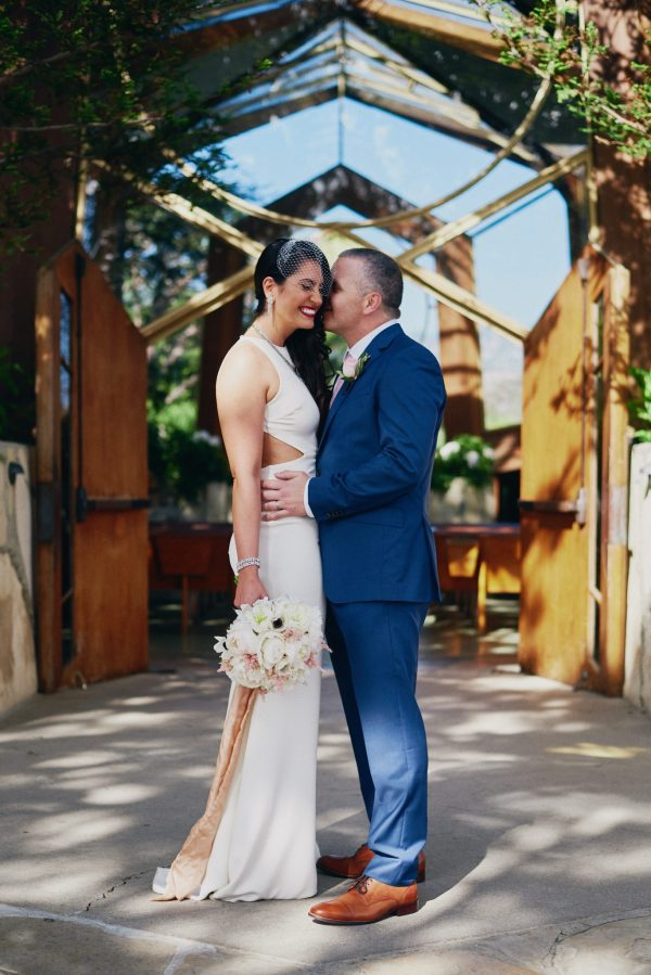 Wedding portrait Wayfarers Chapel - Stephen Tang Photo