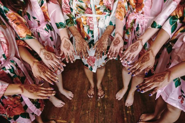 Bride and bridesmaids henna