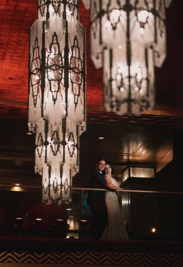 Cicada Club wedding portrait