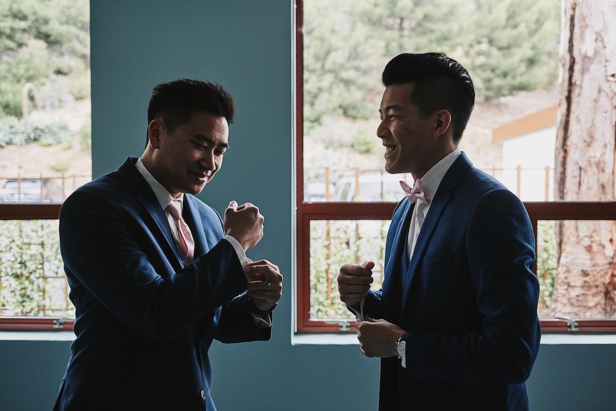 Salvation Army Crestmont College wedding groom prep