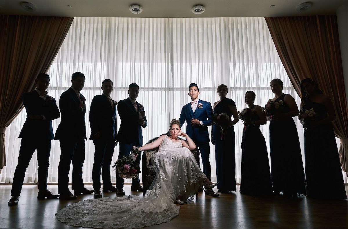 Salvation Army Crestmont College wedding party portrait