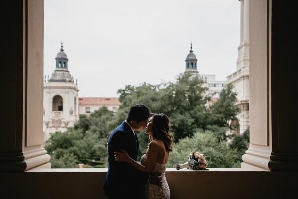 wedding portrait pasadena city hall