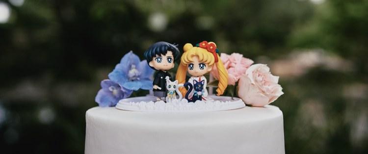 sailor moon wedding cake topper