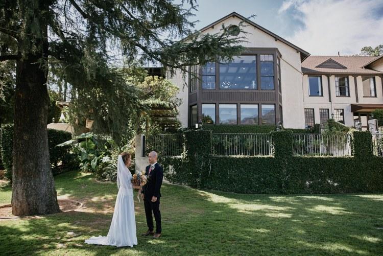 Altadena Country Club wedding first look