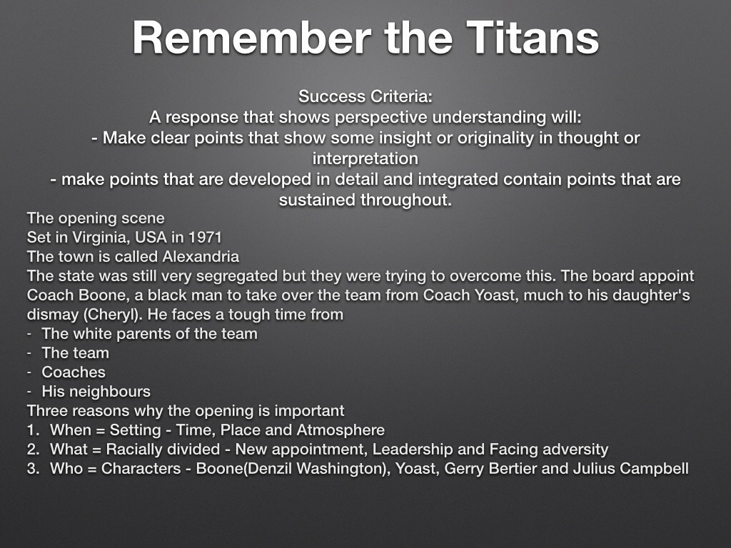 Remember The Titans Powerpoint1