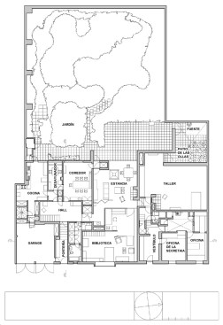 Casa Luis Barragán by Luis Barragán Plan_Ground