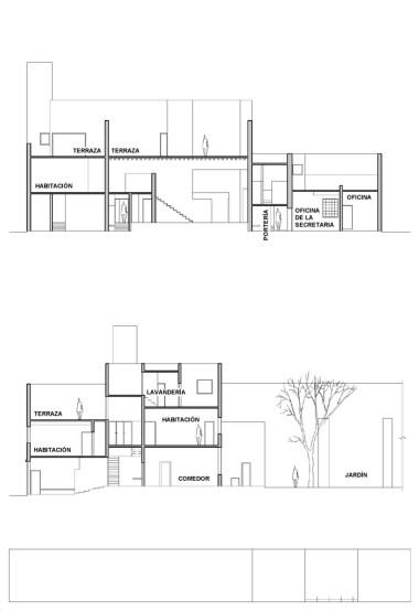 Casa Luis Barragán by Luis Barragán Sections