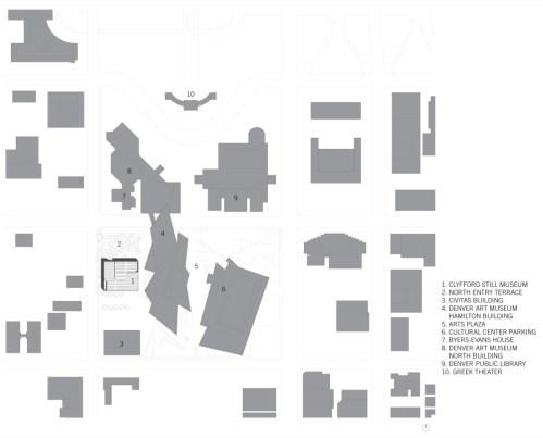 Clyfford Still Museum by Allied Works Architecture - location plan