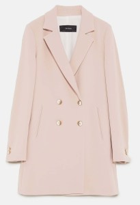 DOUBLE BREASTED COAT DETAILS 69.99 GBP Colour- Nude pink 2038:444