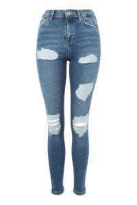 MOTO Blue Super Rip Jamie Jeans
