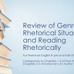 Review of Genres, Rhetorical Situations, and Reading Rhetorically