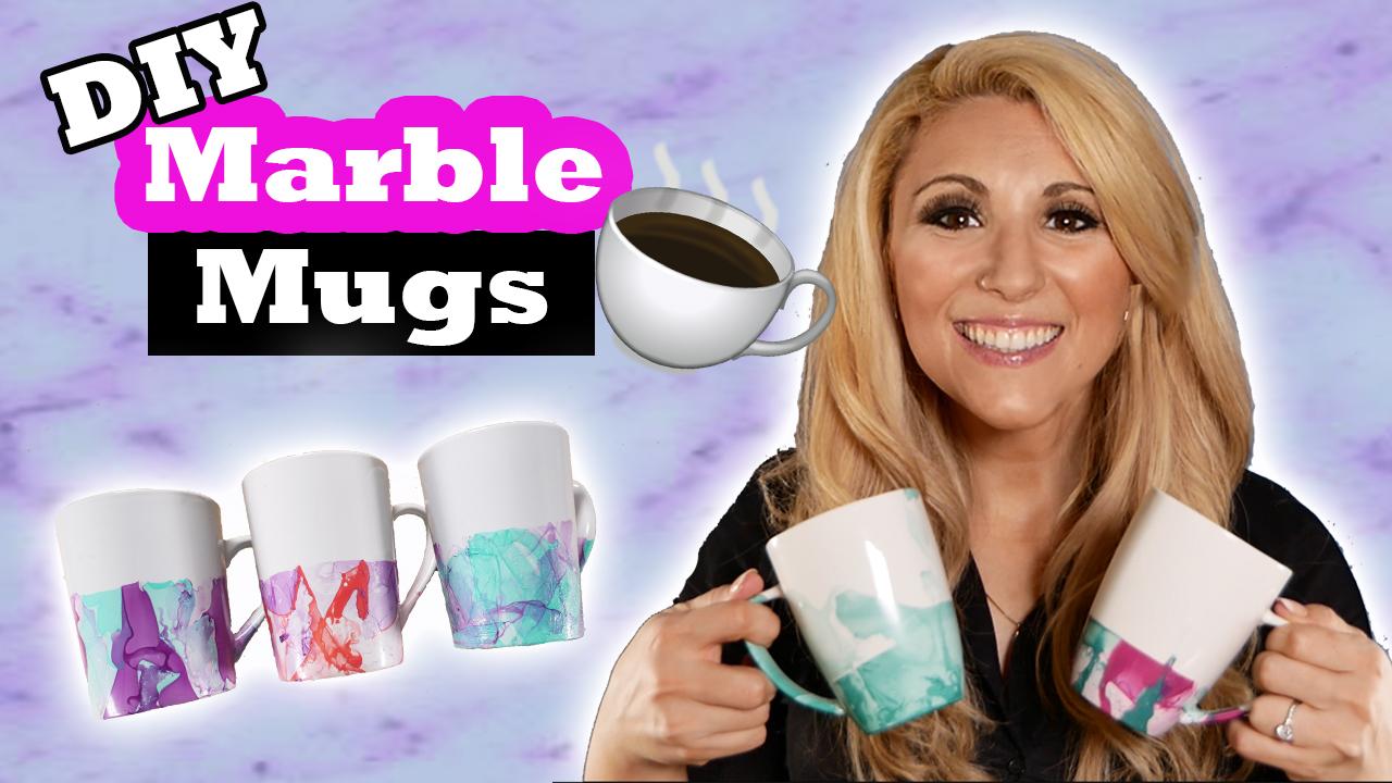 Marble Nailpolish Mugs – Stephie Dee Creates