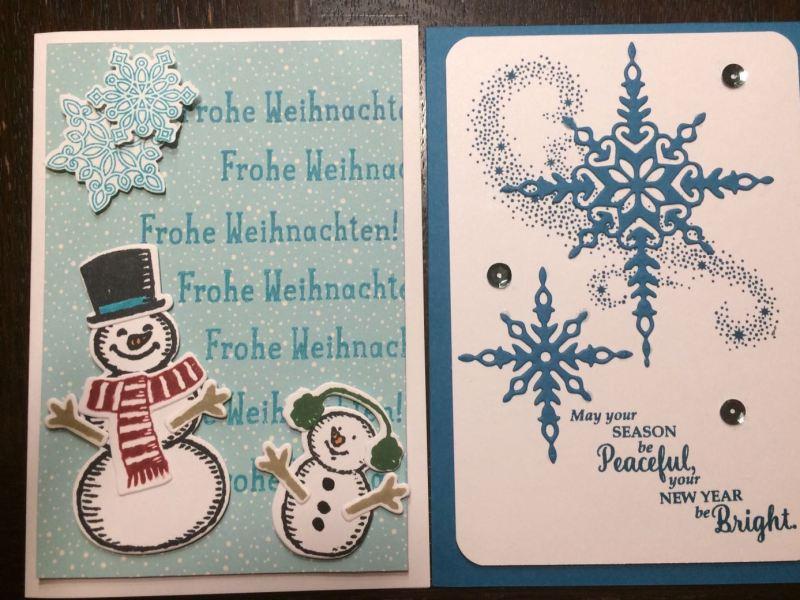 Weihnachtskartenbasteln