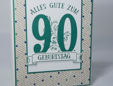 Karte zum 90. Geburtstag