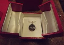 Sterling Silver MOM necklace from Helen Ficalora
