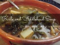Kale and Fiddlehead Soup