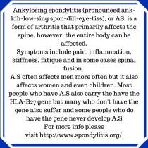 I Have Ankylosing Spondylitis.