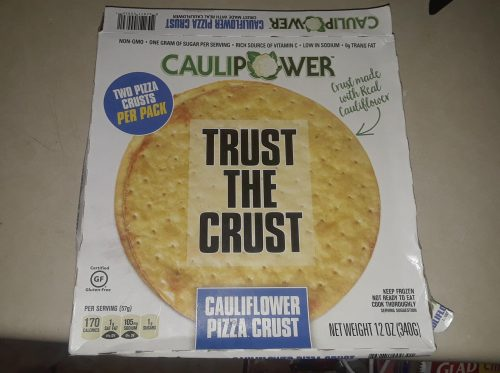 Cauliflower Crust Pizza from Caulipower