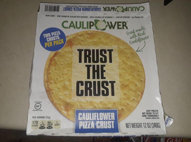 Cauliflower Crust Pizza from Caulipower