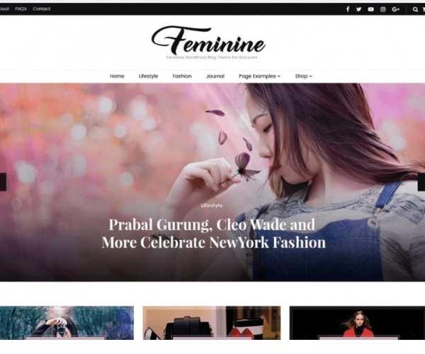 blossom feminine blog theme