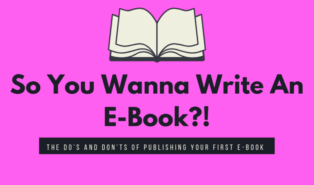 how to write and publish an e-book