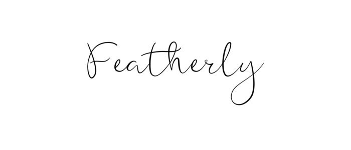 Featherly feminine font