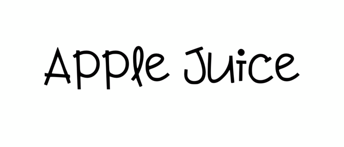 apple juice feminine font
