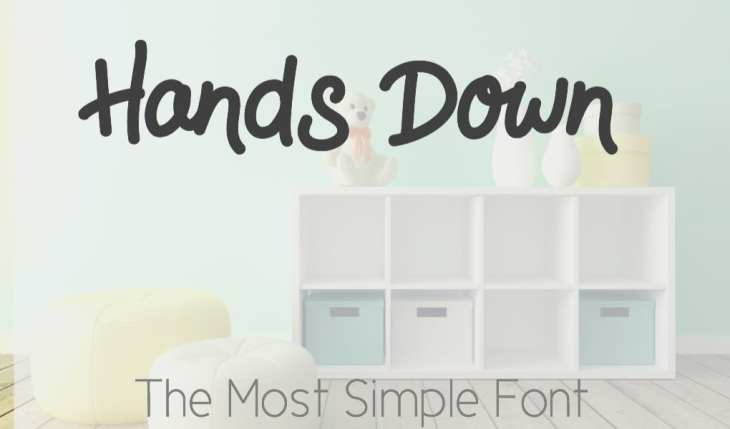 hands down font