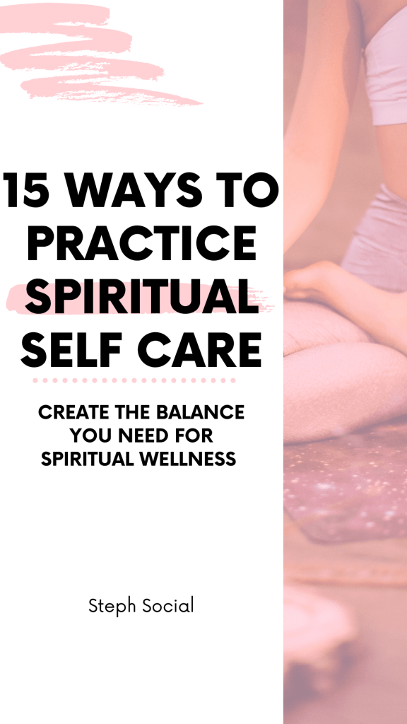 Spiritual self care tips!