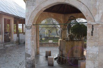 A mosque in the Old Town of Mostar.