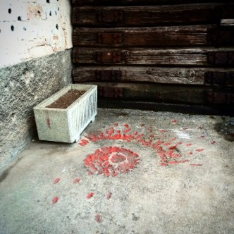 A Sarajevo Rose at the Tunnel Museum.