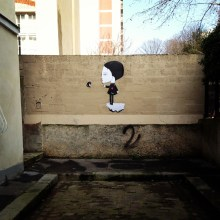 The streets of Menilmontant are alive with street art.