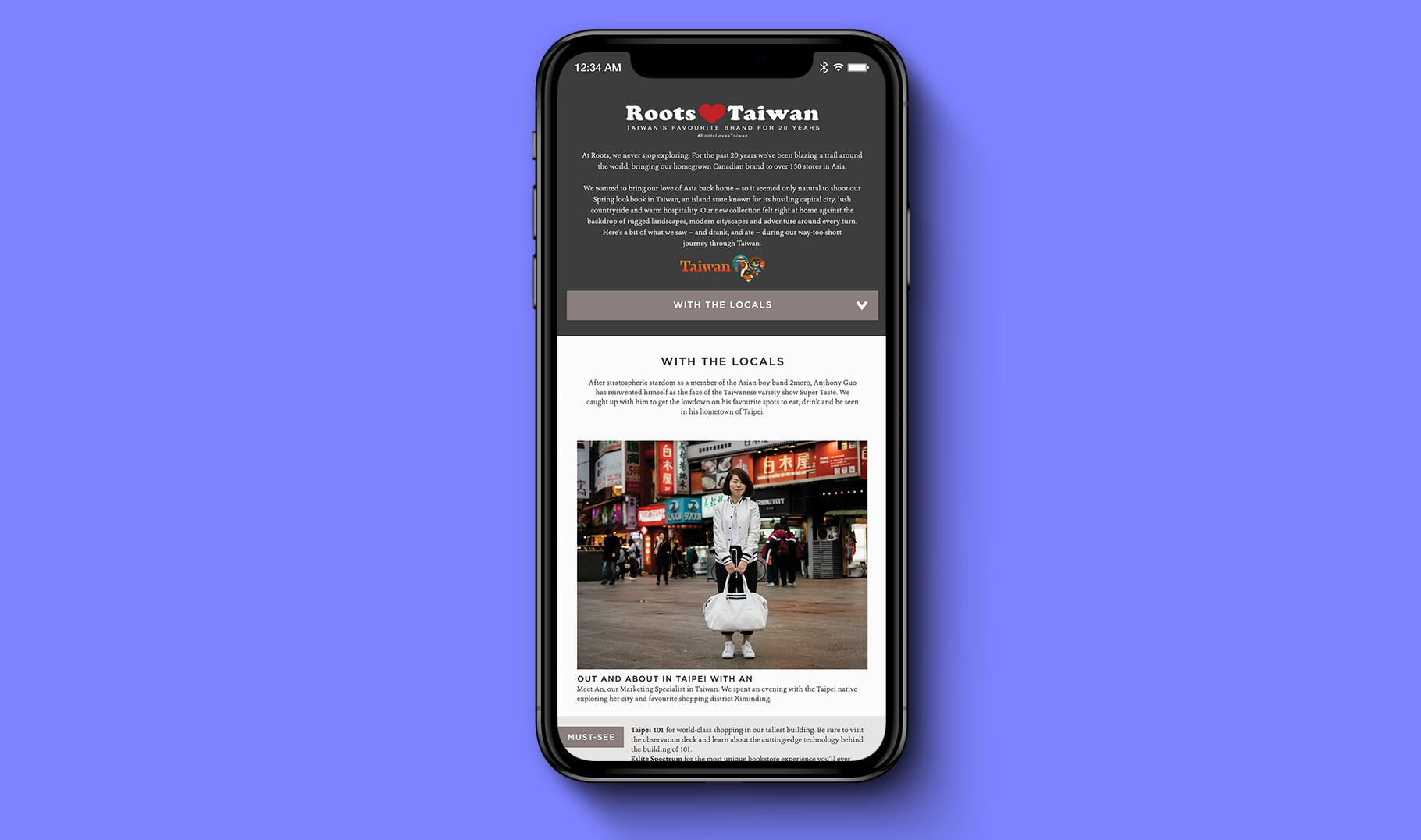 Mobile experience of City Guide