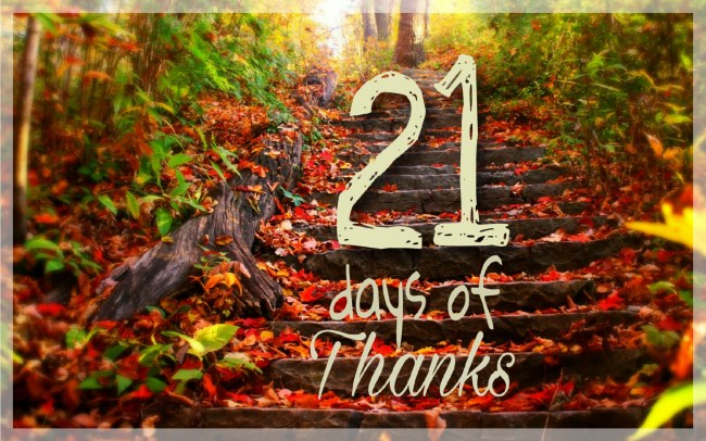 21 days of thanks