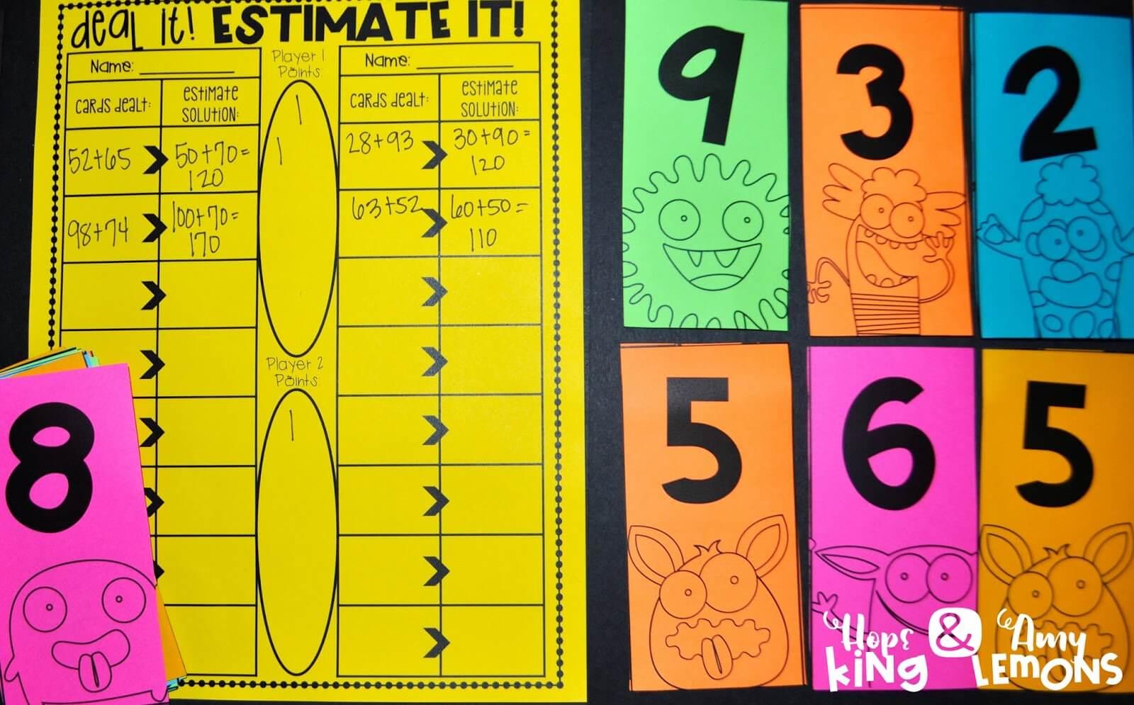 Third Grade Math Estimating Solutions