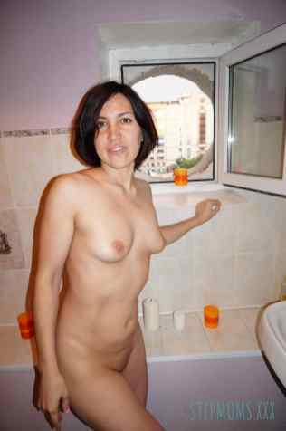 Brunette Stepmother Cheating With Neighbor 13