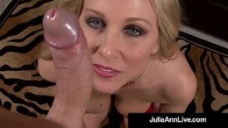 World Famous Milf  Double Strokes & Sucks Your Hard Cock while talking Dirty to You in A POV with Your Dick Blasting its Warm Load On