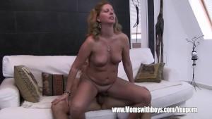 Stepson Caught Masturbating By His Blonde Horny