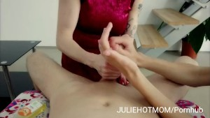 Cock massage with  hands