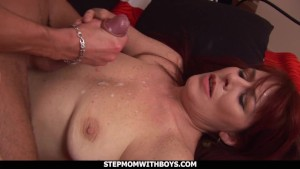 stepmom with boys redhead stepmom enojoying