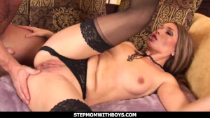 Stepmomwithboys Juicy Stepmom Pussy Gets Fucked