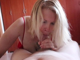 Step mom teaches me howto dont cum long time
