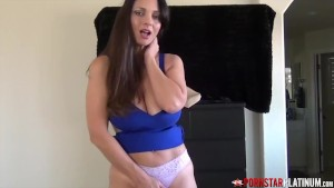 PORNSTARPLATINUM Hot Stepmom Teases By Changing