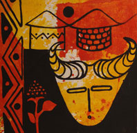 Zimbabwean artwork currently on display in the Gallery and Cafe Ve Vezi in Melnik, Czech Republic