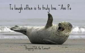to laugh often