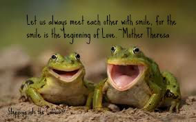 meet each other with smile