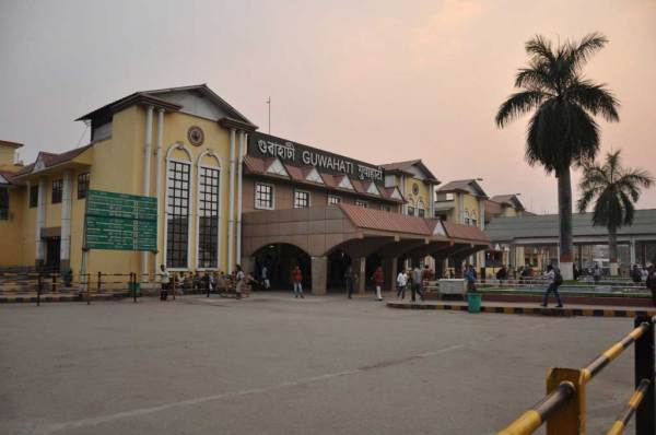 Guwahati Train Station. North entrance.