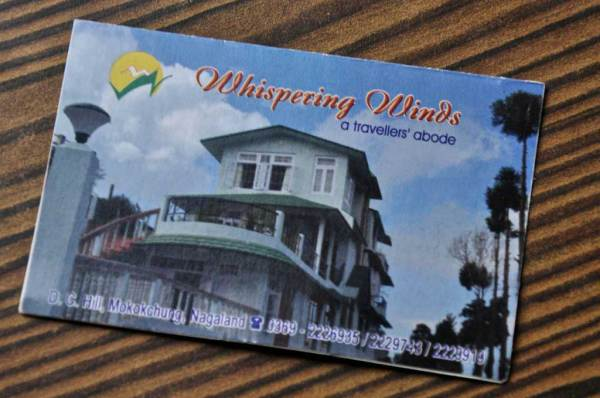 Whispering Winds. contacts. Mokokchung