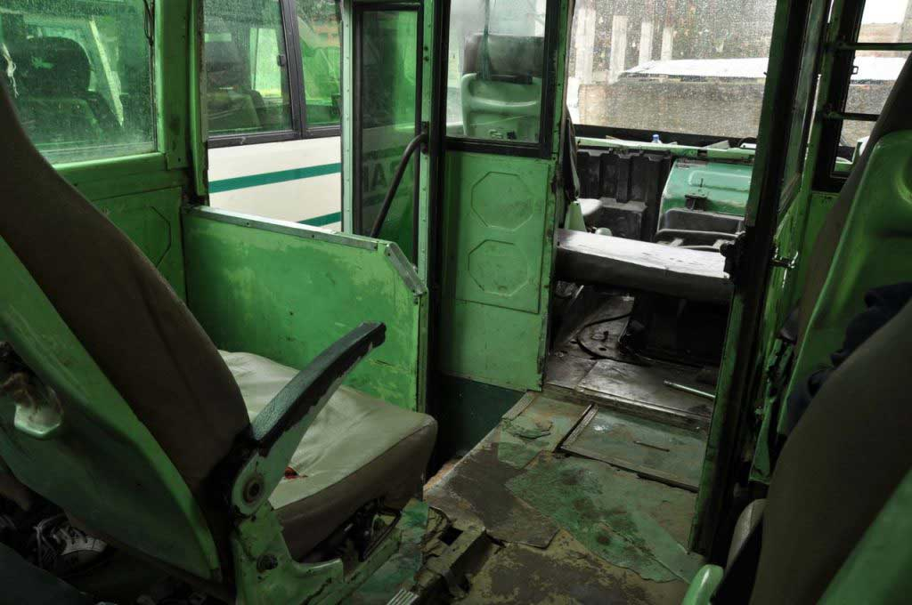 inside of a NST bus_Nagaland State Transport
