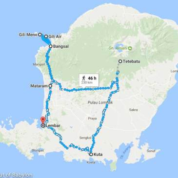 14 days in Lombok: maps, costs and itinerary